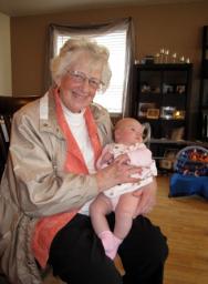 Grandma Lola with Baby Zoe
